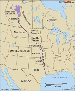 Proposed Keystone XL Pipeline