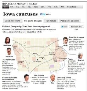 Iowa Caucus Map