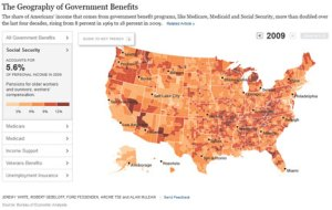 Government Benefits Map